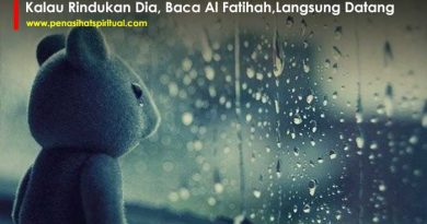 Kalau Rindukan Seseorang Baca Al Fatihah, Dia Langsung Datang